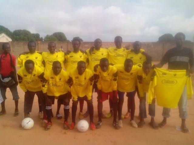voetbal Ajax FC in Pirang Gambia