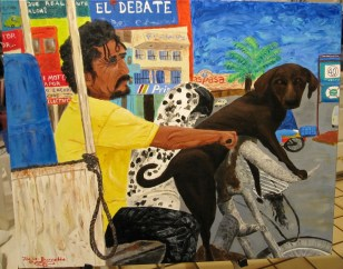 """""""Mexican Dogs Ride""""Acrylic on canvas24""""H x 30""""W x 1.5""""D"""