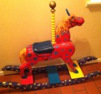 Wood Rocking Horse (Painted by Arlene Linder)