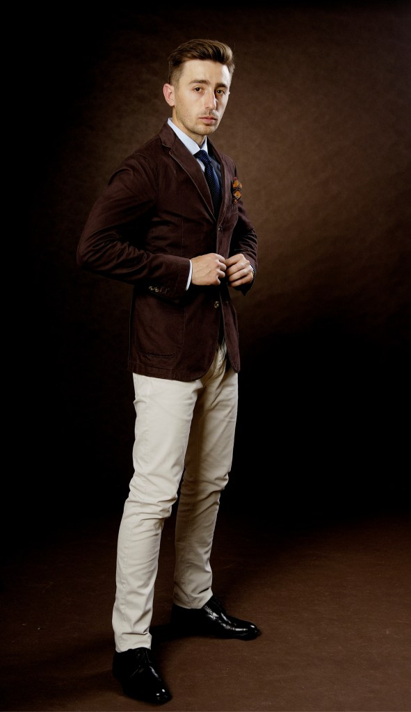 smart casual, jacket brown