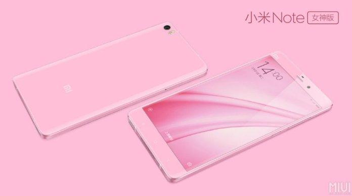 Mi Note pink 2