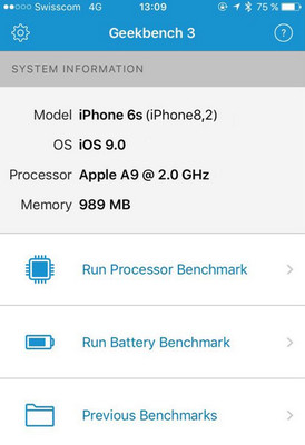 iPhone 6S Geekbench