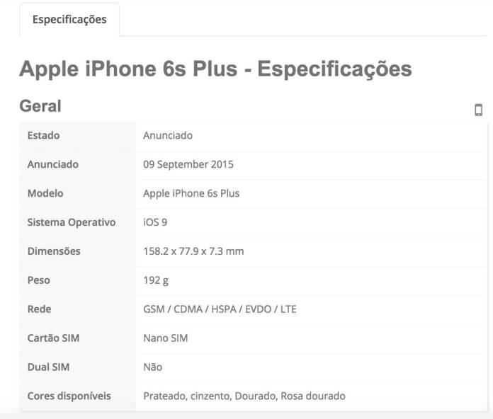 iphone 6S Plus specs 4
