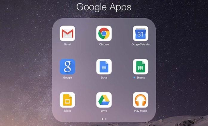 google apps on iOS