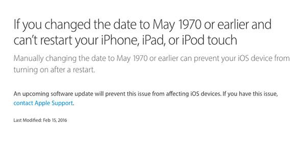 Apple announcement 1970