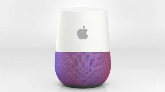 Google Home com logo Apple