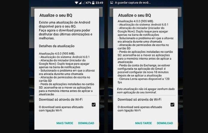BQ AQUARIS M5 Android 6.0