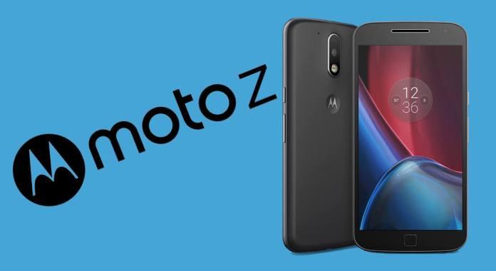 Imagem alusiva ao Moto Z com Moto G4 na figura