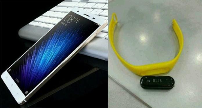 Xiaomi mi max mi band 2