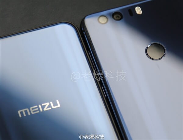 Meizu X ao lado do Honor 8
