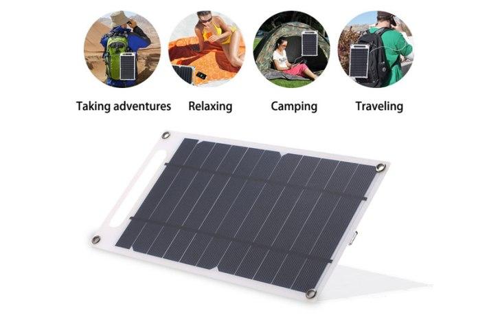 Carregador solar, perfeito para aventuras