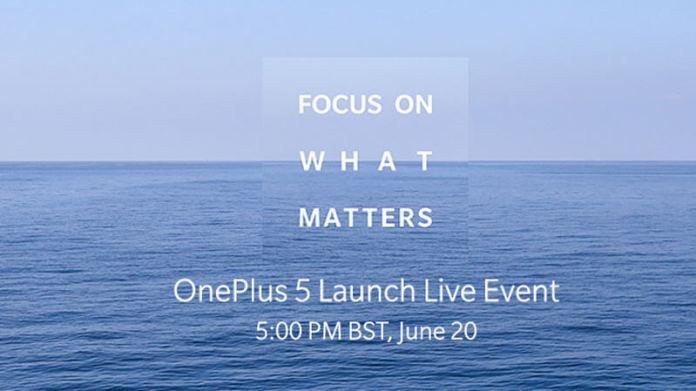 Imagem de lançamento do OnePlus 5