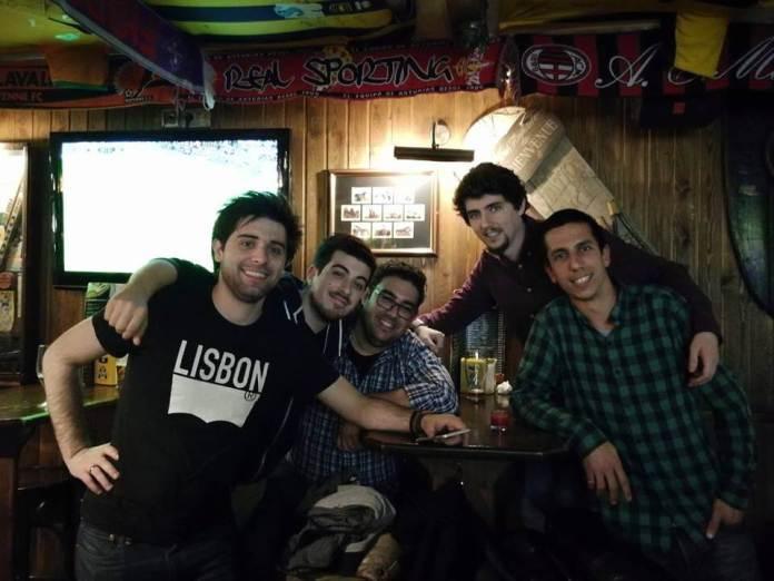Filipe Alves, Bernardo Almeida, Tiago Alves (4gnews), Rui Ferreira (Future Behind), Mario Rui André (Shifter.pt) em Barcelona
