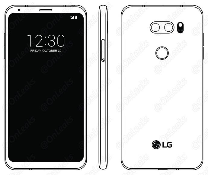 LG V30 ecrã secundário