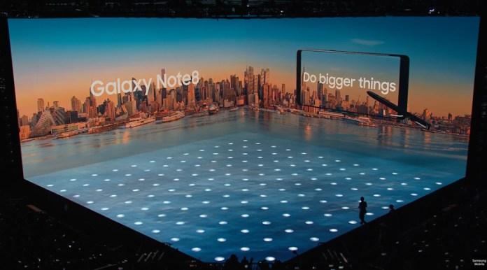 Samsung Galaxy Note 8: Todas as especificações ao pormenor