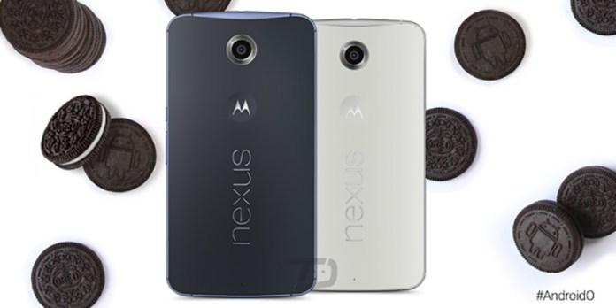 Android Oreo Motorola Nexus 6