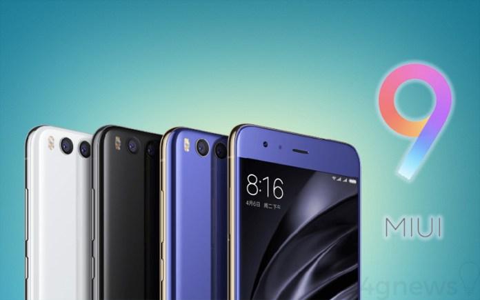 MIUI 9 Xiaomi Mi 6