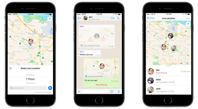 WhatsApp pessoas iOS Android localizar
