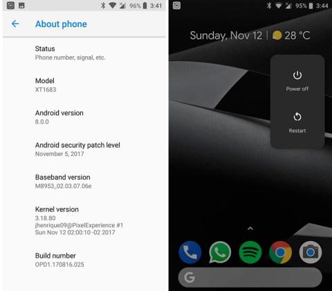 Motorola Moto G5 Plus Google Pixel Android Oreo