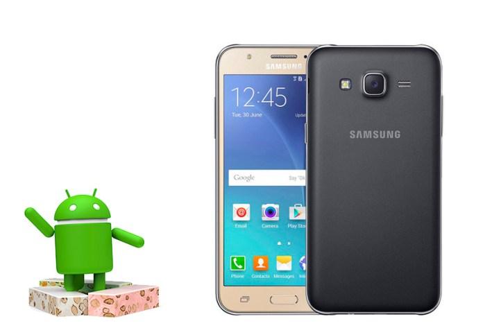 Samsung Galaxy J5 2015 Android Nougat 1