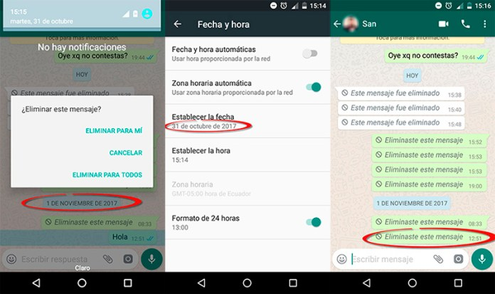 WhatsApp apagar mensagens