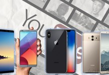 YouTube Note 8 Huawei Mate 10 Pro Apple iPhone X