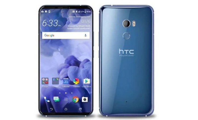 HTC U12 Android Oreo smartphone bezels