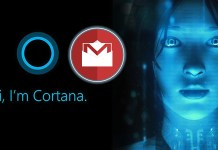 Microsoft Cortana Gmail
