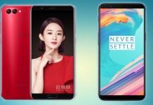 OnePlus 5T Huawei Honor V10
