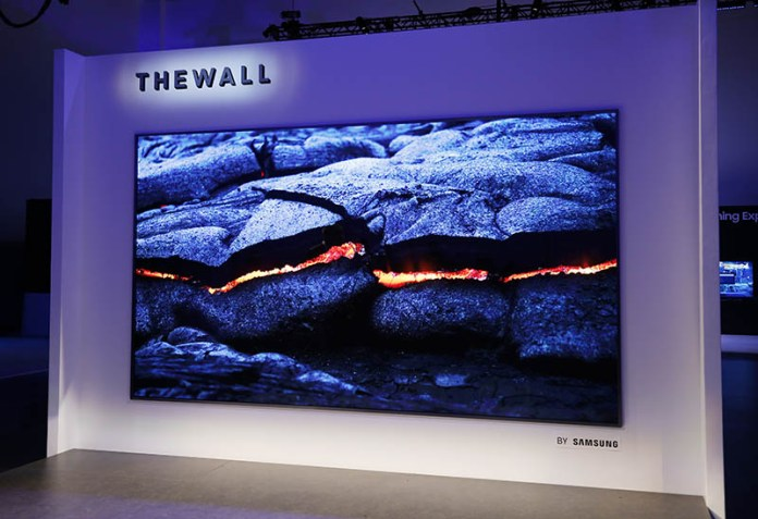 Samsung The Wall TV Micro 1 LED 146 polegadas televisão modular QLED