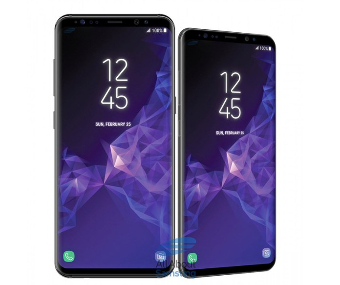 Samsung Galaxy S9 Plus tamanhos variantes
