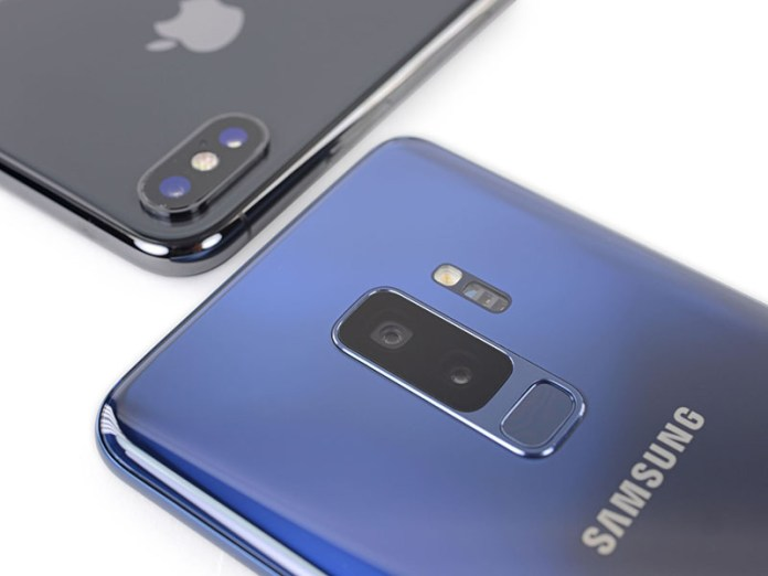 Apple iPhone X Samsung Galaxy S9 Android
