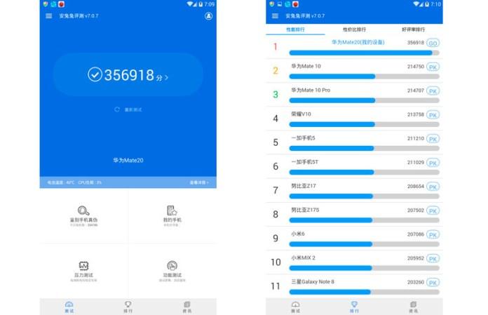 Huawei Mate 20 AnTuTu Kirin 980