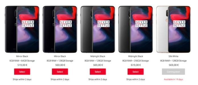 OnePlus 6 Android Oreo Google preços vendas