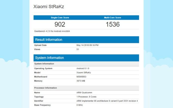 Xiami StRaKz Android Oreo 8.1