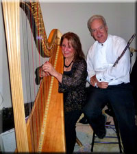 Margaret Atkinson, Harpist and Roger Simpson, Flutist