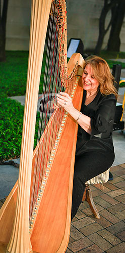 Margaret Atkinson, Wedding Harpist