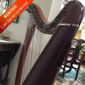Camac Harp from France for sale side view - Rented with option to buy. Can be re-ordered.
