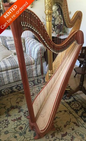 Bubinga Princessa Harp - Rented with option to buy. Can be re-ordered.