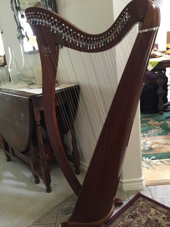 Camac Harp from France for sale back view