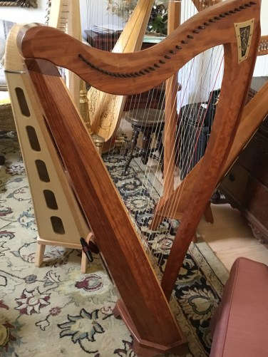 Dusty Strings harp from front