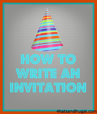 Write an invitation inviview how to write an invitation 4 hats and frugal altavistaventures Image collections