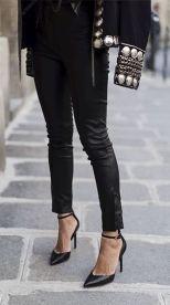 aimee_song_of_style_balmain_jacket_isabel_marant_leather_pants_iro_silver_top