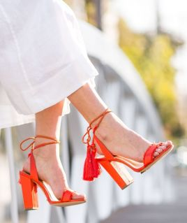 Sydne-Style-wears-Schutz-satin-lace-up-fringe-shoes-for-summer-trends