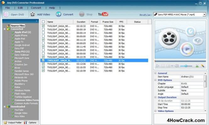Any DVD Converter Professional License Key