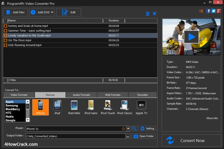 Program4Pc Video Converter Pro Serial Key