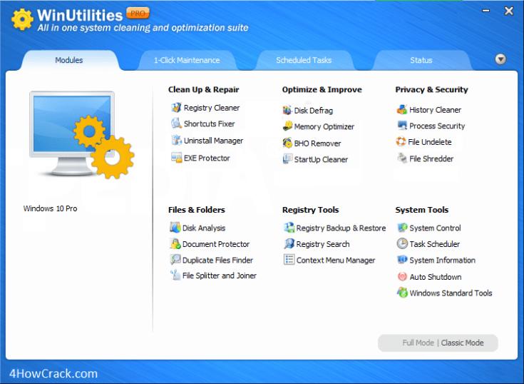 WinUtilities Professional Serial Key
