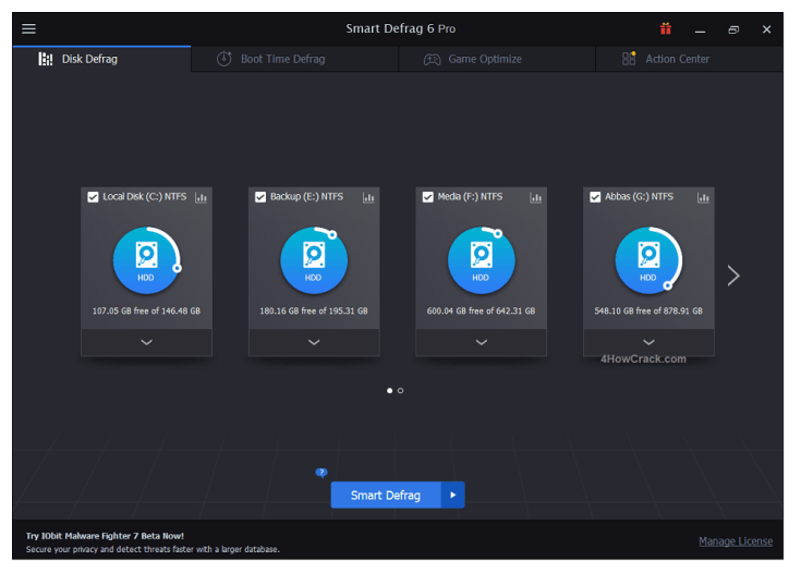 IObit Smart Defrag Pro Serial Key Download