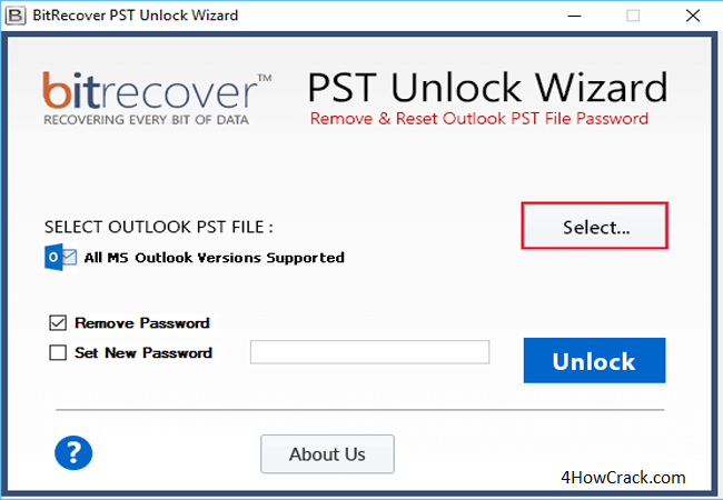 BitRecover PST Unlock Wizard Serial Key