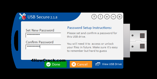USB Secure Registration Key